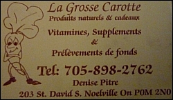 La Grosse Carotte business card