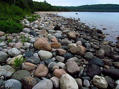 Rocky beach on Lake Superior