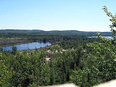 Panoramic scenery from Halfway Lake Provincial Park, near Sudbury, Ontario.