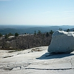White quartzite and magnificent views atop Silver Peak.