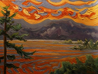 The Golden Time of Long Ago (painting by Pierre AJ Sabourin)