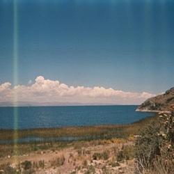 Lake Titicaca scenery from along the road to Yampupata, near Kusijata.