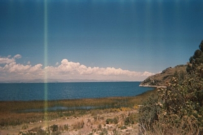 Lake Titicaca scenery from along the road to Yampupata, near Kusijata.