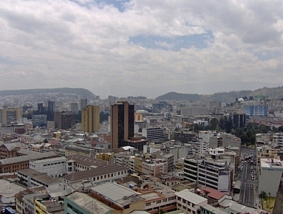 Start getting into Quito stride by climbing to the tower of the Basilica del Voto Nacional to catch this view of the city.