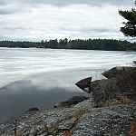 Scenery along the Coastal Trail, Mashkinonje Provincial Park.