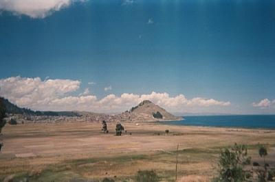 Cerro Calvario from Kusijata (the hiking part of relaxing and hiking in Copacabana).