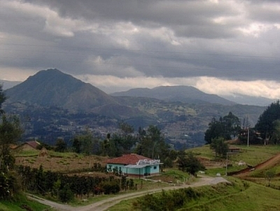 Beautiful view of Ecuador's countryside from the bus, somewhere before crossing the Ecuadorian-Peruvian border.