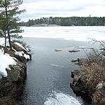 View of Lake Nipissing from a bridge on Coastal Trail, near the Atakas Trail junction.