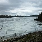 Lake Nipissing scenery from the Coastal Trail at Mashkinonje Park.
