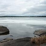 View of Lake Nipissing from Lapin Beach.