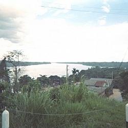 View of the Madre de Dios river from Puerto Maldonado.