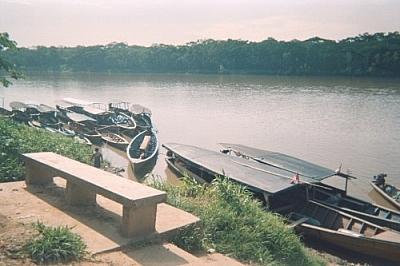 Peki pekis docked at Puerto Tambopata — shot snapped while running errands in Puerto Maldonado.