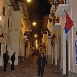 Revisiting the past to this night on Calle Rocafuerte in Quito Ecuador.