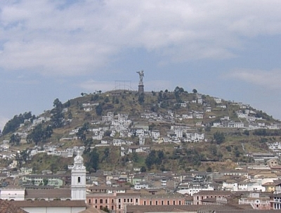 Before reaching the end of Quito for me, I had the chance to see the city from El Panecillo, a Quito landmark pictured here.