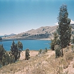 Magnificent lake scenery during a hiatus on Titicaca.