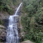 Waterfall in Ecuador's Parque Nacional Podocarpus.