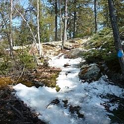 Access to Atakas Trail from Coastal Trail, Mashkinonje Provincial Park