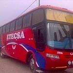 Red bus in Peru