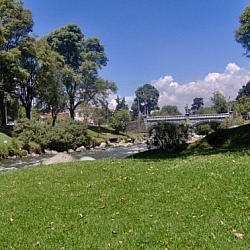 Sitting by the river for some down time in Cuenca.