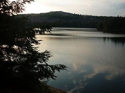 Boundary Lake at dusk