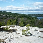 A panoramic vista along the La Cloche Silhouette Trail.