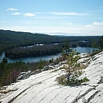 View of Boundary Lake from the La Cloche Silhouette Trail.