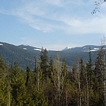 A beautiful view of the Selkirk Mountain Range from my uncle's balcony.