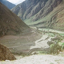 Inca ruins seen while hiking the Inca Trail to Machu Picchu, Day 3.