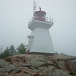 Travel to Ontario to see this lighthouse on the Great Lakes.