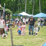 Children dancing at the Dokis First Nation Powwow.