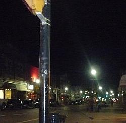 Nighttime view of Main Street.