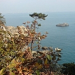 Ocean scenery seen from Dusongsan Peninsula, South Korea.
