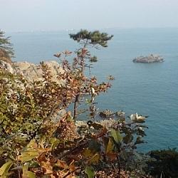 Ocean scenery seen from Dusongsan Peninsula, South Korea.