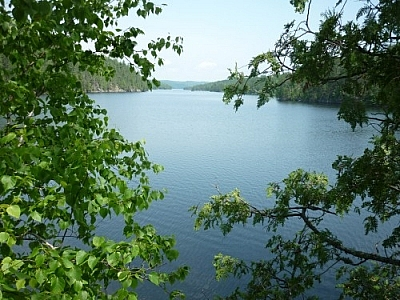Mattawa River scenery while hiking the History Loop on Etienne Trail in Samuel de Champlain Park.