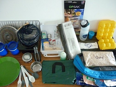 A wide selection of food gear that could be helpful in preparing for a trek, but choose wisely.