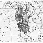 Depiction of Orion as warrior