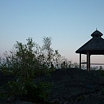 Walking Sudbury's Rainbow Routes can lead to this gazebo on Blueberry Hill