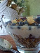 Granola, Blueberries, and Yogurt