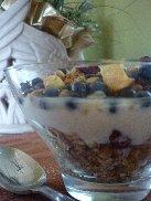 Granola, Blueberries, and Yogurt