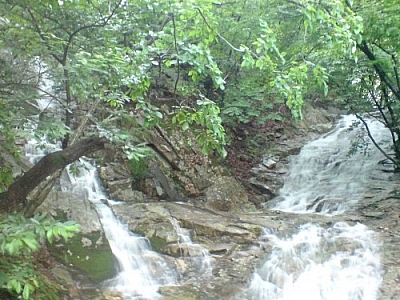 Trail magic in South Korea is kind of like these beautifully magical waterfalls in Gyeryeongsan Park!