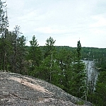 Beautiful scenery along the Hawk Ridge Trail in Halfway Lake Provincial Park.