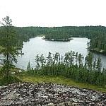 Lake scenery along Hawk Ridge Trail.