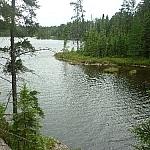 Lake scenery along the Hawk Ridge Trail.