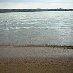 Beach-level lake view at Halfway Lake Provincial Park.
