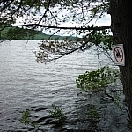 Sign marking our campsite on Helenbar Lake