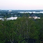 View of the Minnow Lake area seen while walking one of the Sudbury Rainbow Route trails.