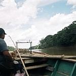 Senovia in the peki peki on the way down the Tambopata to Puerto Maldonado.