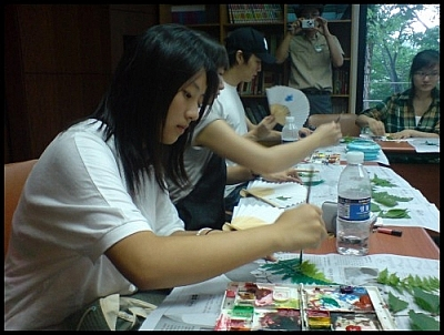 Our Jirisan wetland eco-tour included some arts and crafts.