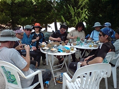 Our trekking Jirisan grand finale took place at an outdoor restaurant at one of the park access points.