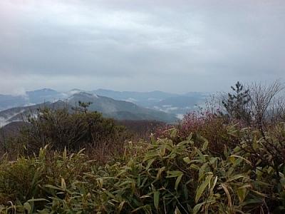 An amazing view through the fog while trekking Jirisan